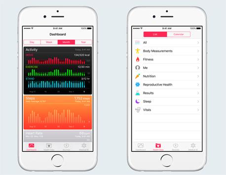 אפליקציית בריאות אפל, צילום: Apple