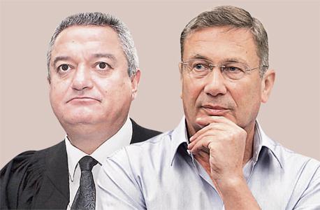 מימין: נוחי דנקנר והשופט חאלד כבוב. הכרעת דין נחרצת, צילומים: אוראל כהן