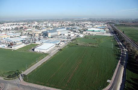 השטח באזור התעשייה באר טוביה עליו אמורה לקום תחנת הכח