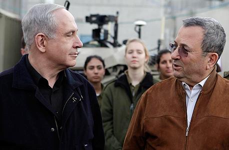 מימין אהוד ברק ו בנימין נתניהו ראש הממשלה, צילום: אדי ישראל