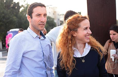 חברי הכנסת מהמחנה הציוני סתיו שפיר ו איציק שמולי, צילום: עמית שעל