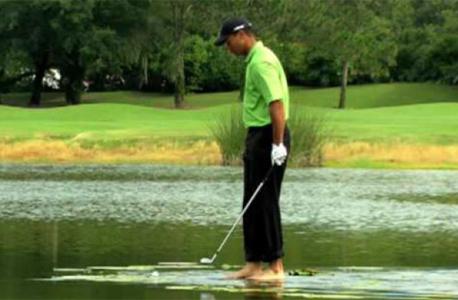 שחקן הגולף טייגר וודס בקמפיין