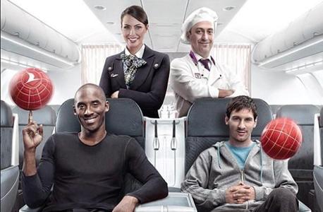 מוסף ספורט 10.7.16 10 הקמפיינים פרסומת הסלפי של בראיינט ו מסי נחשים על המטוס
