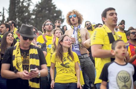 """היציע של בית""""ר נורדיה ירושלים. """"למשחק העונה בטדי הבאנו 2,500 איש ששילמו על כרטיס בליגה ג"""