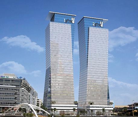 """הדמיית מגדלי אלון ברחוב יגאל אלון בת""""א. אכלוס בתוך שנה"""