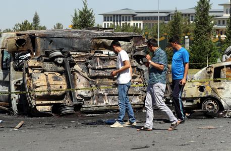 טורקיה אנקרה ארמון הנשיאות ארדואן יום אחרי כשלון ההפיכה, צילום: איי פי