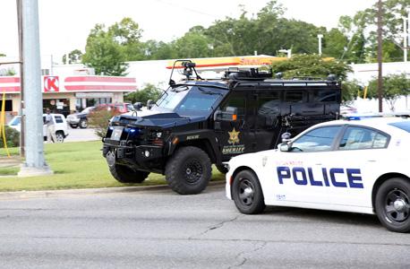ירי על שוטרים בלואיזיאנה, צילום: רויטרס