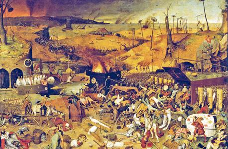 """""""ניצחון המוות"""", יצירתו הנודעת של פיטר ברויגל האב"""