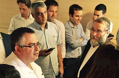"""משה גפני ויו""""ר הקואליציה דוד ביטן בוועדת כספים"""