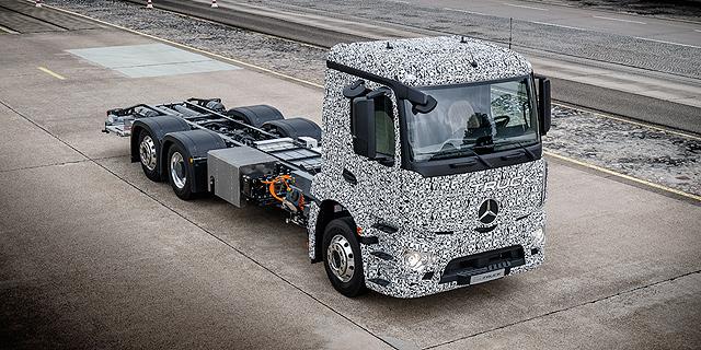 מרצדס חושפת: המשאית החשמלית הכבדה הראשונה