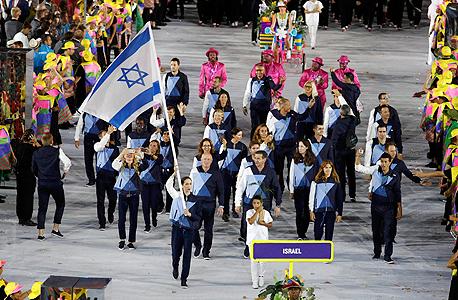 המשלחת הישראלית בטקס פתיחת האולימפיאדה בריו