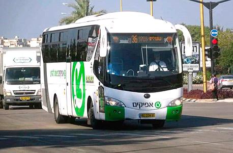 אוטובוס  של חברת אפיקים, צילום: youtube
