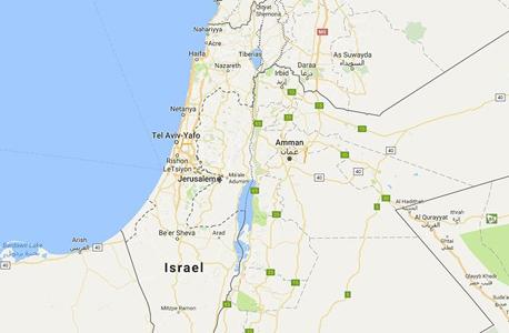 גוגל מפות ישראל, צילום מסך: google maps