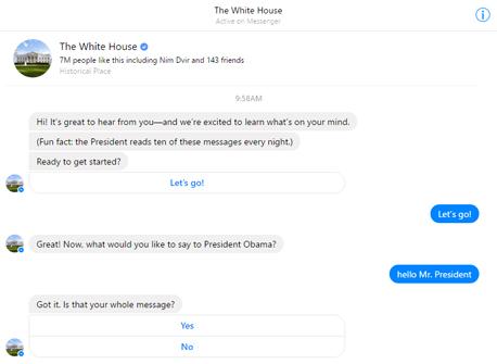 בוט פייסבוק ברק אובמה