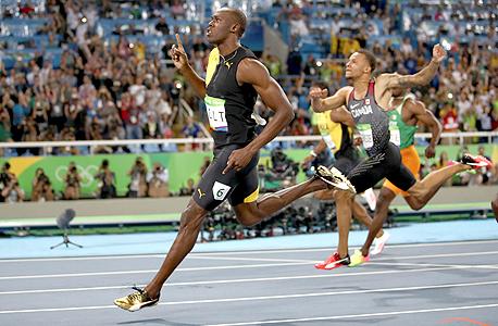 יוסיין בולט אצן ג'מייקני זכה בריצת 100 מטר באולימפיאדת ריו 2016, צילום: גטי אימג'ס