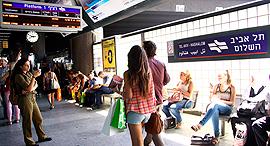 """חנת הרכבת שלום בת""""א, צילום: דנה קופל"""