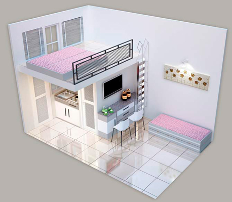 הדמיית חדר במלון צ'וטוטל