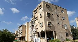 בניין שמיועד ל פינוי בינוי ב לה גארדיה ב שכונת יד אליהו תל אביב, צילום: עמית שעל