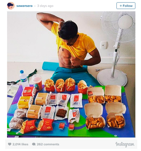 ריו 2016 מקדונלד'ס  Sawan Serasingheסאוואן סרסינגה בדמינטון אוסטרליה, צילום: instagram