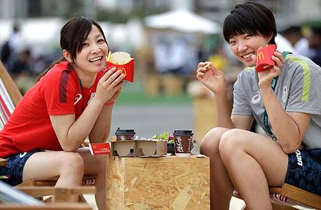 ריו 2016 מקדונלד'ס שחקניות כדורעף נבחרת יפן, צילום: איי פי