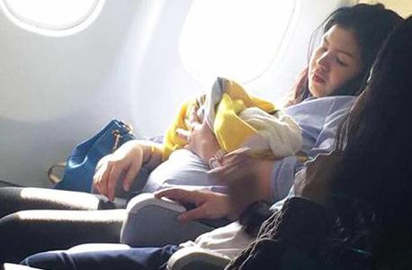 הייבן שנולדה בטיסה של סבו פסיפיק מהפיליפינים
