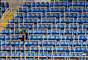 יציעים ריקים בריו, צילום: רויטרס