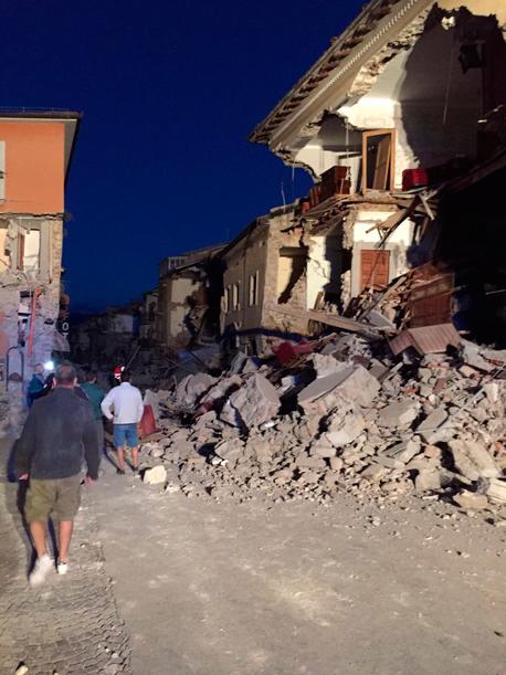 רעש אדמה איטליה אמטריס, צילום: twitter / Francesco Ameli