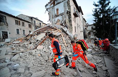 רעש אדמה רעידת אדמה איטליה אמטריצ'ה 1, צילום: איי פי