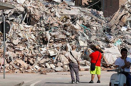 רעש אדמה רעידת אדמה איטליה אמטריצ'ה 3, צילום: twitter / Imad Salamoun