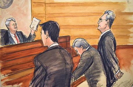 איור משפטו של קובי אלכסנדר בניו יורק, איור: Elizabeth Williams