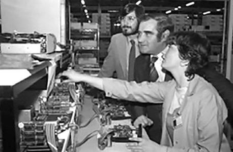סטיב ג'ובס פתיחת המשרד של אפל באירלנד 1980, צילום: APPLE