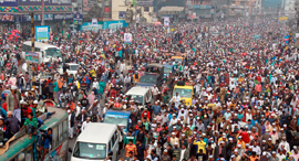 פיצוץ אוכלוסין צפיפות דאקה בנגלדש, צילום: רויטרס