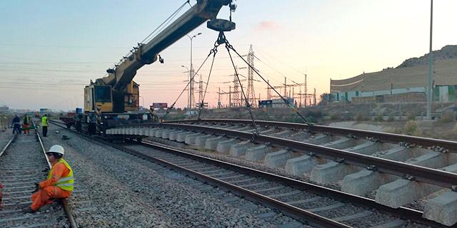 העבודות ברכבת ישראל. צפויים לסיים הערב