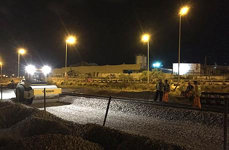 """עבודות ברכבת במוצ""""ש שעבר, צילום: רכבת ישראל"""