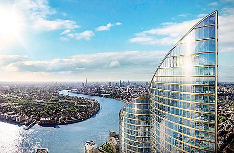 """מגדל מגורים ספאייר לונדון Spire London קבוצת נדל""""ן סינית גרינלנד גרופ 1, צילום: Greenland Group"""