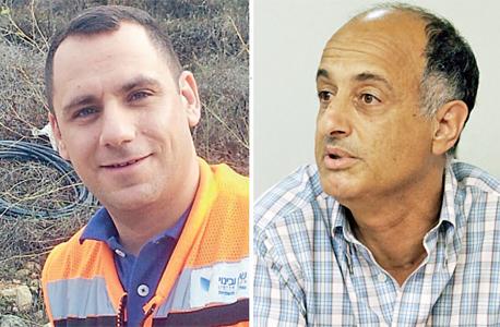 """מימין: המנכ""""ל תמיר דגן. """"העובד קיבל הטבות"""". משמאל: ראובן בן שמעון. טוען שמשתיקים אותו, צילום: שאול גולן"""