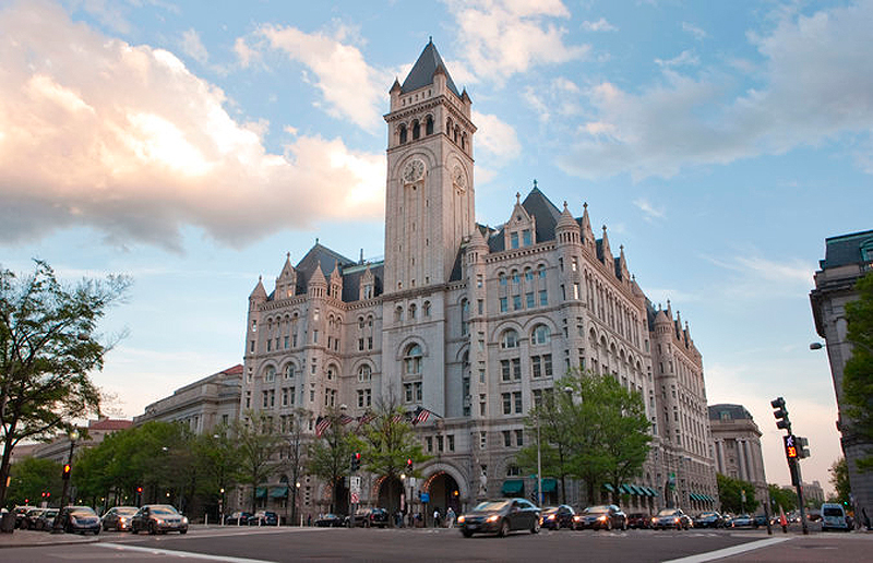 מלון טראמפ אינטרנשיונל בוושינגטון. אם יימאס לו מהבית הלבן, צילום: jeswork