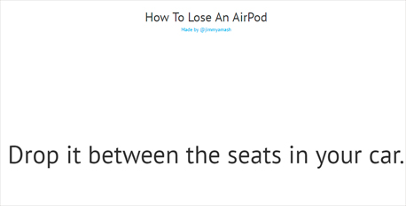 דרכים לאבד אוזניות אפל