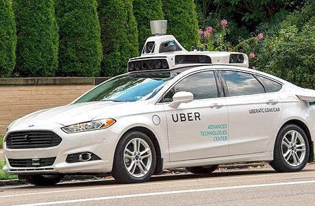 אובר מוניות מכונית ללא נהג מכונית אוטונומית, צילום: אי פי איי