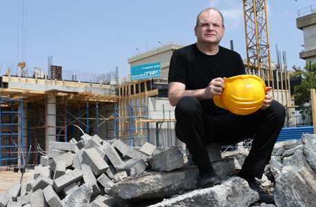 Checkpoint CEO Gil Shwed at the start of construction of its new building in 2016. Photo: Amit Shaal