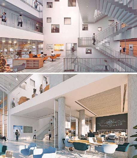 הבמיית החלל הפנימי של הבניין. כמו חברת הייטק