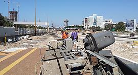 עבודות רכבת תל אביב 1, צילום: פטר קלנר