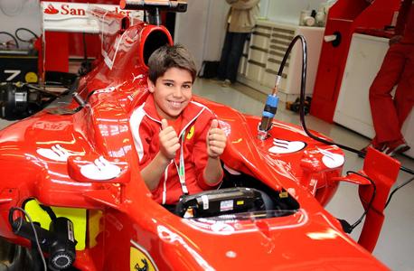 לאנס סטרול בן ה־11. בנו של המיליארדר, כיום בן 17, כבר נמצא בדרך לפורמולה 1, צילום: אי פי איי