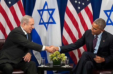 פגישת בינימין נתניה ו ברק אובמה 1 , צילום: איי אף פי