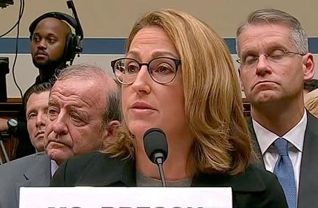 """הת'ר ברש מנכ""""לית מיילן בעדותה בקונגרס"""