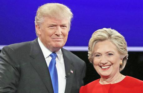 קלינטון טראמפ עימות, צילום: אי פי איי