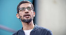 """מנכ""""ל גוגל העולמית סונדאר פיצ'אי, צילום: בלומברג"""