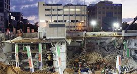 קריסת החניון רחוב הברזל בתל אביב, צילום: שאול גולן