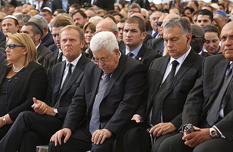 יושב ראש הרשות הפלסטינית אבו מאזן ב לוויה הלוויה של שמעון פרס, צילום: גיל יוחנן