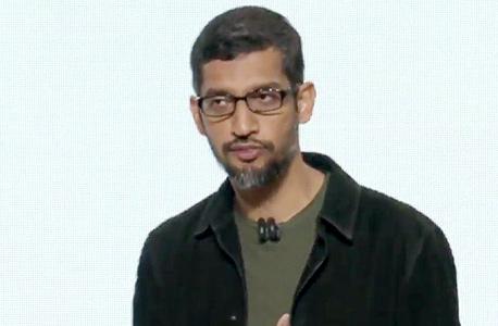 """סונדאר פיצ'אי מנכ""""ל חברת גוגל, צילום מסך: Youtube"""